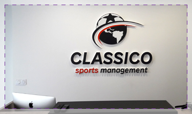 Logo en polystyrene classico sports management